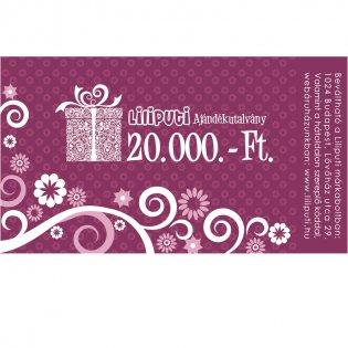 Ajándékutalvány 20000 Ft -